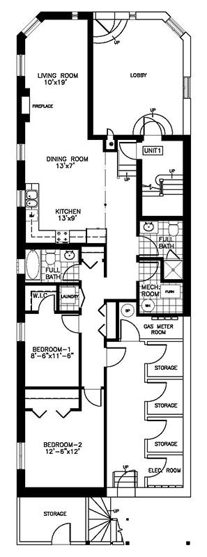 Floor Plans Residence On The Avenue 2 Bedroom Garden Home Condo Chicago Condo Vacation Rentals